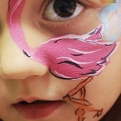 pomalowana twarz dziecka 1