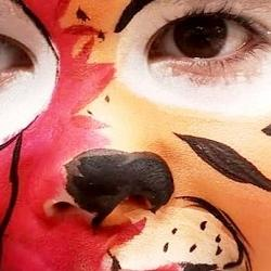 pomalowana twarz dziecka 5